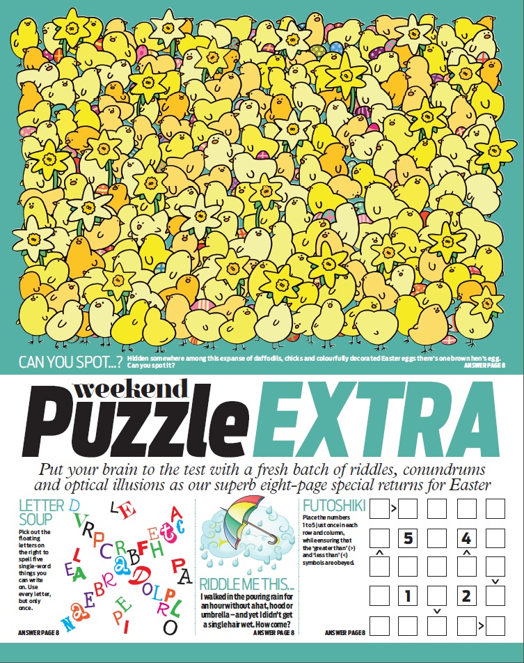 easter puzzle 8 page special